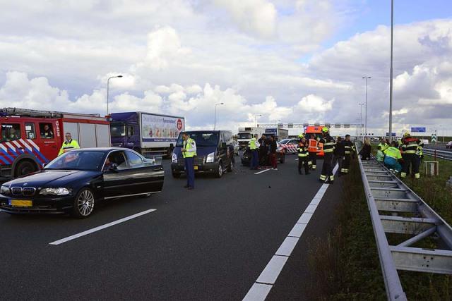 Hoofddorp: Vier auto's betrokken bij ongeval op de A4