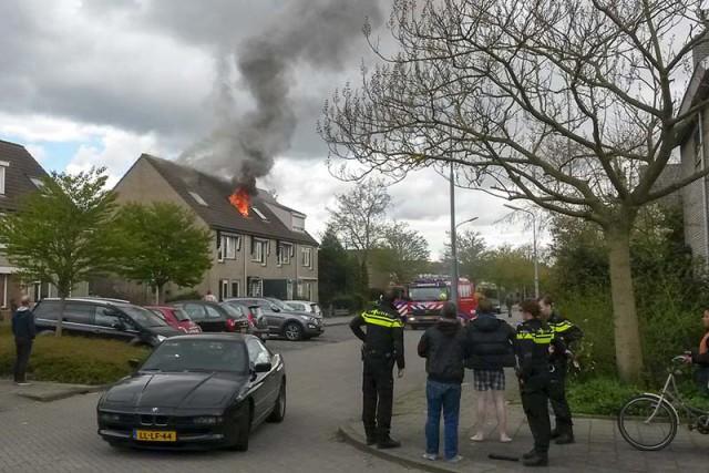 Twee gewonden bij brand in woning met hennepkwekerij