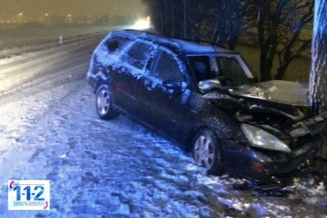 Haarlemmermeer – Meerdere ongevallen door gladheid en verse sneeuw
