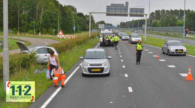 Hoofddorp – Automobiliste gewond bij ongeval N201