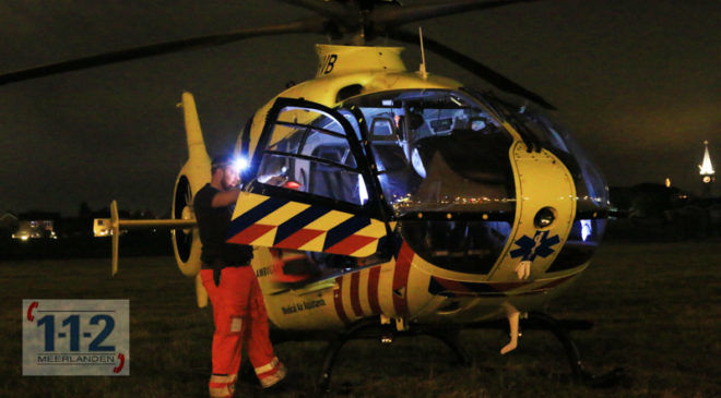 Aalsmeer – Traumaheli landt voor medische noodsituatie