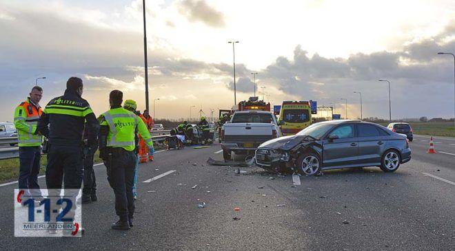 Hoofddorp – Gewonde bij ongeval op de A4