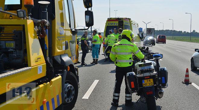 Nieuw-Vennep – Automobiliste onwel in auto midden op A4