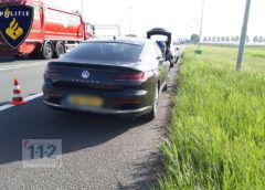 Nieuw-Vennep – Klappen na aanrijding op A4