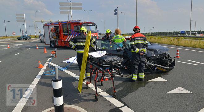 Hoofddorp – Twee gewonden bij aanrijding op de N201