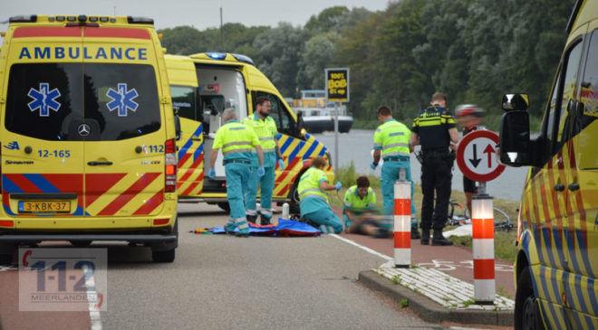 Badhoevedorp – Wielrenner gewond na valpartij