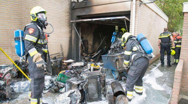 Abbenes – Garagebox in de brand na bijvullen autobrandstof