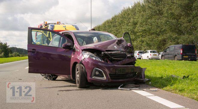 Vijfhuizen – Vijf gewonden bij ongeval Drie Merenweg (N205)