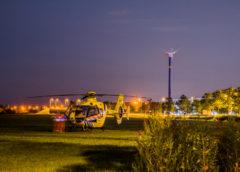 Heemskerk – Traumahelikopter landt langs de Communicatieweg voor medische noodsituatie